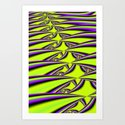 Lime n Purple Art Print