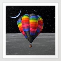 balloon Art Prints featuring Balloon by Cs025