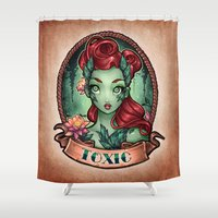 TOXIC Pinup Shower Curtain