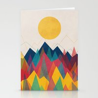 sun Stationery Cards featuring Uphill Battle by Picomodi