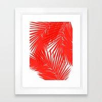 Palms Red Hot Framed Art Print