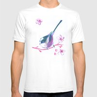 Waiting For The Spring Mens Fitted Tee White SMALL