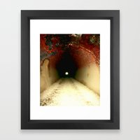 Light At The End Of The … Framed Art Print