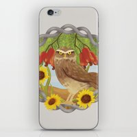 cashew and owl iPhone & iPod Skin
