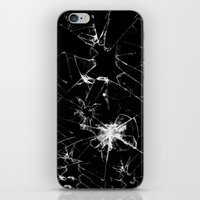 Shatterd+black iPhone & iPod Skin