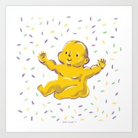 Who got the baby?? Art Print