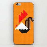 Rooster (orange) iPhone & iPod Skin