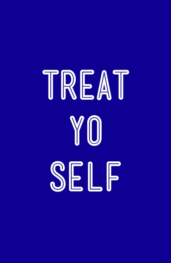Treat Yo Self Blue - Parks and Recreation Canvas Print