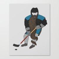 Playoff beard Canvas Print