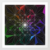 Spotty Variation 2 Geometric Art Print. Art Print