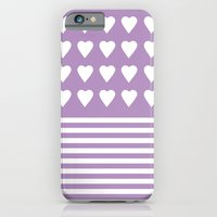 Heart Stripes Orchid iPhone 6 Slim Case