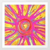 Alien Sun Art Print