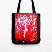 JUSSI FLOWER ROSE Tote Bag
