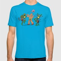 Keep Away! Mens Fitted Tee Teal SMALL