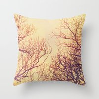 High up in the trees Throw Pillow