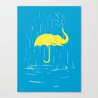 Umbrellaphant Canvas Print