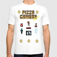 The Pizza Gamers Mens Fitted Tee White SMALL