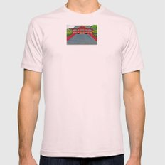Red Temple Mens Fitted Tee Light Pink SMALL