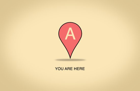 You Are Here Art Print