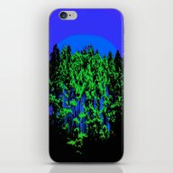 Mod Trees Blue & Green iPhone & iPod Skin