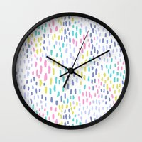 Rain in colors Wall Clock
