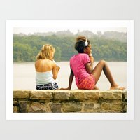 a day at the lake. Art Print