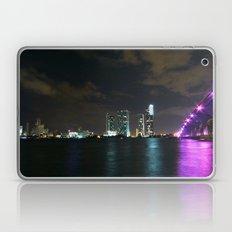 Miami night skyline Laptop & iPad Skin
