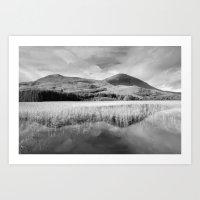 Loch Cill CHRIOSD B&W Art Print