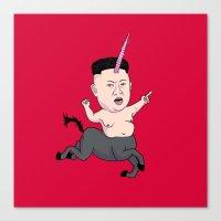 Kim Jong Unicorn Canvas Print
