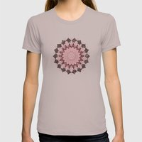 BOHOCHIC MANDALA IN CORAL Womens Fitted Tee Cinder SMALL