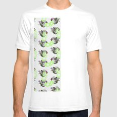 Cephalopod White Mens Fitted Tee SMALL