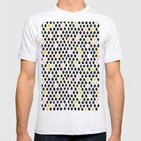 Dewdrops Mens Fitted Tee Ash Grey SMALL