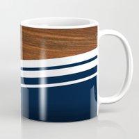 Wooden Navy Mug