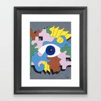 Patterned Eyes | The Rig… Framed Art Print