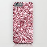 iPhone & iPod Case featuring Swirls Red by Flo Thomas