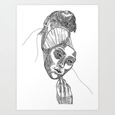 Mask 02 Art Print