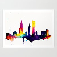 chicago Art Prints featuring Chicago  by Talula Christian