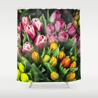 Tulips At Market Shower Curtain
