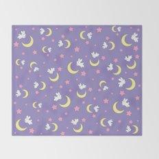 Rabbit of the Moon Throw Blanket