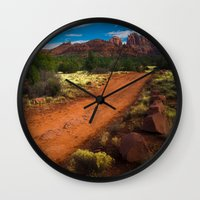 Red Desert Day Wall Clock