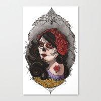 El Dia Del Los Muertos Canvas Print