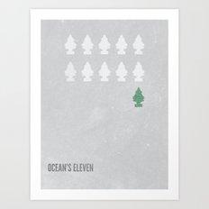 Ocean's Eleven Minimalist Poster.  Art Print