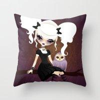 VelusaMisery Throw Pillow
