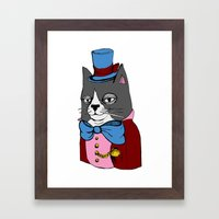 Dignified Cat Framed Art Print