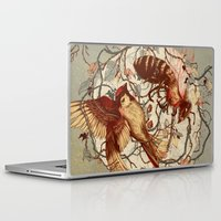 brain Laptop & iPad Skins featuring Honey & Sorrow (grey) by Teagan White