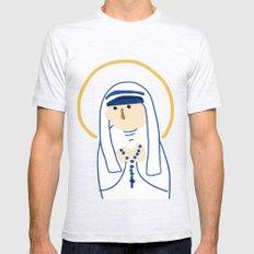St. Teresa (Mother Teresa) Mens Fitted Tee Ash Grey SMALL