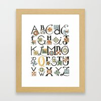 The ABC's of Quilting Framed Art Print