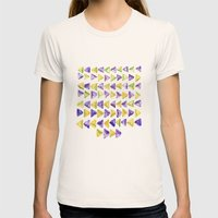 Triangle Relationship (I) Womens Fitted Tee Natural SMALL