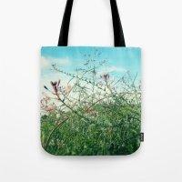 Field Wild Flowers Tote Bag