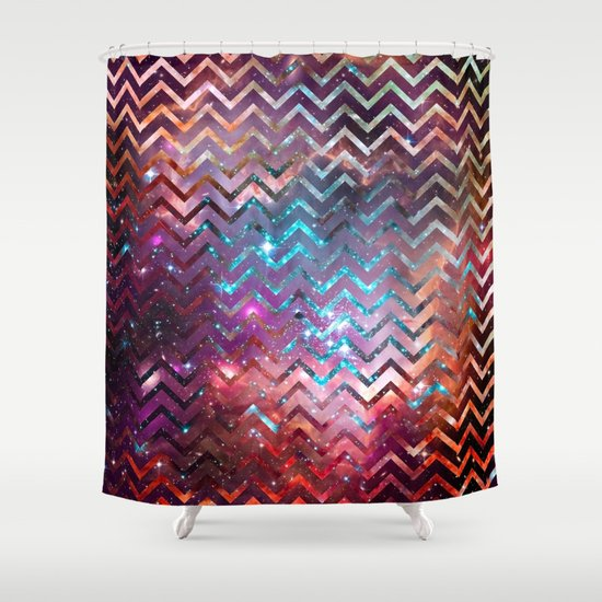 Best Glitter Chevron Shower Curtain